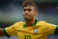 Neymar belo horizonte june during game between brazil vs uruguay during confederation cup in the stadium of the mineirao on june Royalty Free Stock Image