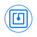 Nfc circular line icon. Round colorful sign. Flat style vector symbol.