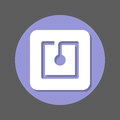 Nfc flat icon. Round colorful button, circular vector sign with shadow effect. Flat style design.