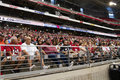 Nfl arizona cardinals football team training camp fans fill the stadium for the s holds first Royalty Free Stock Photography