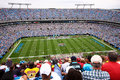 NFL - colorful fans - Bank of America Stadium Royalty Free Stock Photo