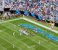 NFL - in der roten Zone Lizenzfreie Stockfotografie