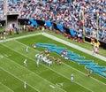 NFL - en la zona roja Fotografía de archivo libre de regalías