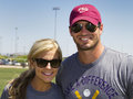 Nfl minnesota vikings quarterback christian ponder pro of the and his wife samantha a espn sideline reporter Royalty Free Stock Photo