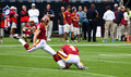 NFL - Redskins Kicker Suisham Warms Up Stock Photography