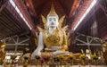 Nga Htat Gyi Pagoda, also known as the five-storey Buddha is located across the Chauk Htat Gyi Buddha Image in Yangon. Royalty Free Stock Photo
