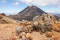 Ngauruhoe volcano in Tongariro National Park Royalty Free Stock Photo