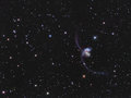Ngc antennae galaxies in corvus the also known as caldwell are a pair of interacting the constellation they were Stock Images