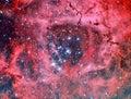 NGC 2244 Rosette Nebula Royalty Free Stock Photo