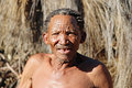 Nharo bushman san near gobabis in namibia africa Royalty Free Stock Images