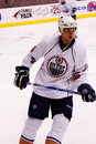 NHL forward Fernando Pisani of the Edmonton Oilers Stock Image