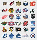 NHL teams logos Royalty Free Stock Photo