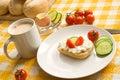 śniadaniowy stół Zdjęcia Royalty Free