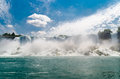 Niagara falls american part of view from bellow Royalty Free Stock Photo