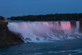 Niagara Falls (American Waterfall) at twilight Royalty Free Stock Images