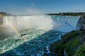 Niagara Falls, boat and Rainbow Royalty Free Stock Photo