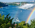 American Niagara Falls and Maid of the Mist Royalty Free Stock Photo
