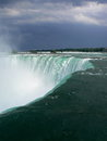 Niagara falls canada close up on and buildings viewed from by beautiful day Stock Photography