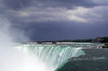 Niagara falls canada close up on and buildings viewed from by beautiful day Royalty Free Stock Images