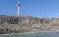 NIAGARA FALLS, CANADA - NOVEMBER 13th 2016: The Skylon Tower is Royalty Free Stock Photo
