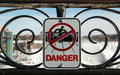NIagara Falls Danger Sign Royalty Free Stock Photography