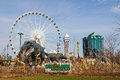 Niagara falls dinosaur adventure golf casino and hotels canada th april the skywheel at canada Stock Photos