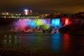 Niagara Falls at Night Royalty Free Stock Photo