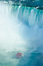 Niagara falls ontario canada horse shoe falls with hornblower Royalty Free Stock Photo