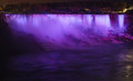 Niagara falls ontario canada horse shoe falls night Royalty Free Stock Photo
