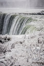 Niagara falls on a snowy landscape on winter time Stock Image