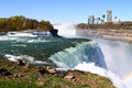 Niagara falls state park united states of america with the canadian side in the background Stock Photos
