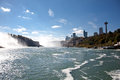 Niagara Falls View From Niagara River Gorge Royalty Free Stock Photo