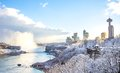 Niagara Falls in winter,Canada Royalty Free Stock Photo