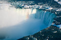 Niagara Falls Winter Horseshoe Falls Stock Photos