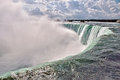Niagara horseshoe falls a view of the falling water from the top of the part of the in ontario canada Royalty Free Stock Images