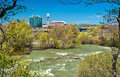 The Niagara river seen from Goat Island - New York, USA Royalty Free Stock Photo