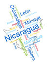 Nicaragua Map and Cities Royalty Free Stock Photo
