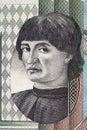 Niccolo Machiavelli portrait from Italian money Royalty Free Stock Photo