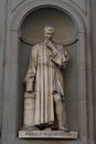 Niccolo Machiavelli. Statue in the Uffizi Gallery, Florence, Tuscany, Italy Royalty Free Stock Photo