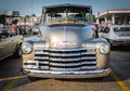 Nice amazing front view of old classic vintage retro pick up truck gorgeous stunning closeup car Royalty Free Stock Image