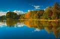 Nice autumn landscape with lake