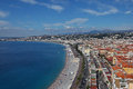Nice beach c te d azur france Royalty Free Stock Image