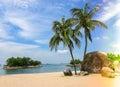 Nice beach on Sentosa island, Singapore Royalty Free Stock Photo