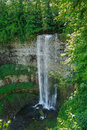 Nice beautiful vertical view of niagara escarpment water fall fragment gorgeous Royalty Free Stock Image