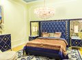 Nice bed in a hotel number Royalty Free Stock Photo