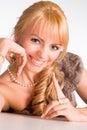Nice blonde girl posing Royalty Free Stock Image