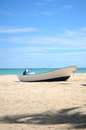 Nice boat is standing on the beach Royalty Free Stock Photos