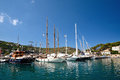 Nice boats in puerto de soller majorca spain Stock Images