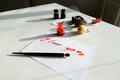 Nice calligraphic card with red inscription I love you on white