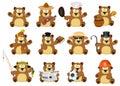 Nice cartoon set of bears